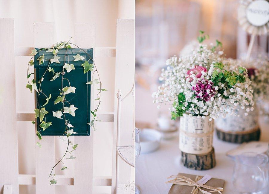 Aranjamente florale Nunta cu 900 de fluturi Miruna si Horatiu
