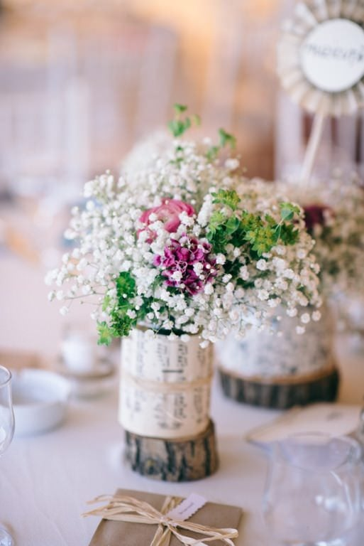 Aranjament floral Nunta cu 900 de fluturi Miruna si Horatiu