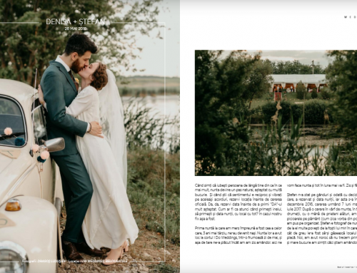 #NuntaLibre – Denisa si Stefan a fost inclusa pe lista BEST OF WEDDINGS 2019 by WEDMAG