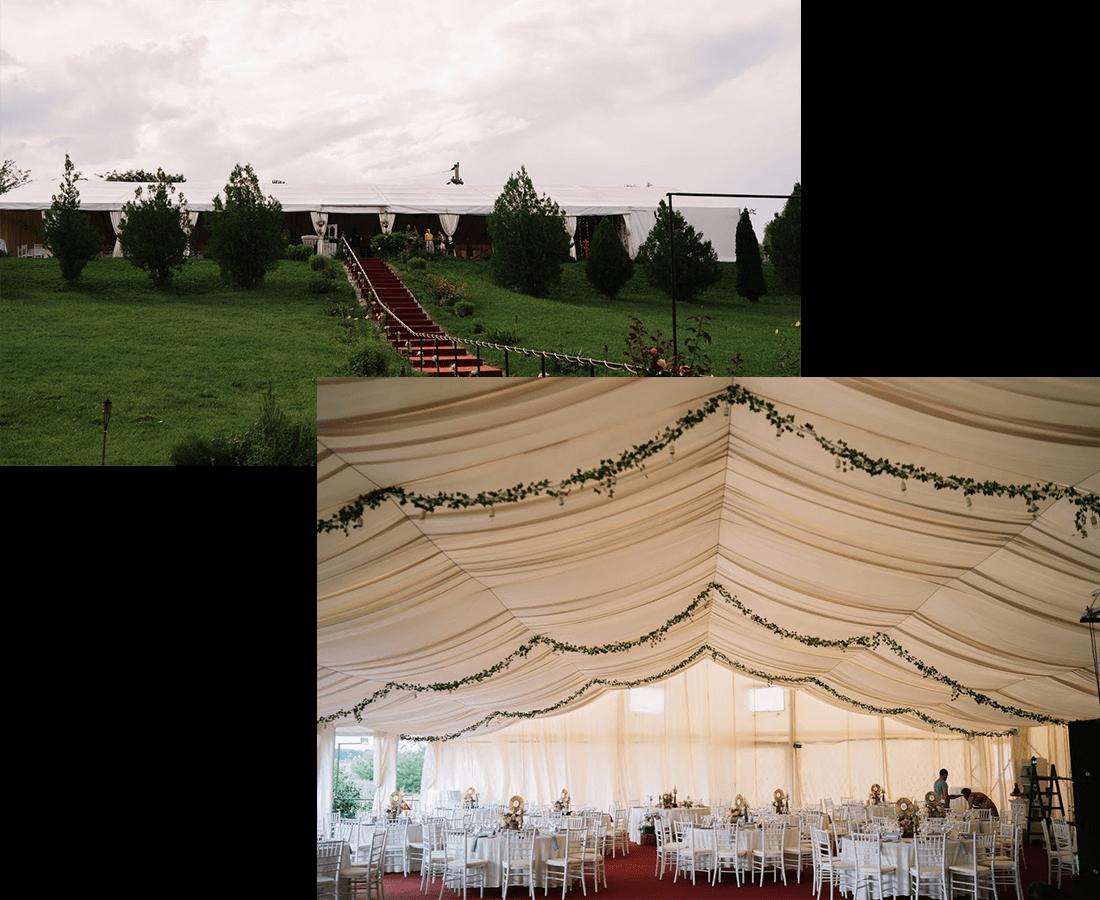 Interiorul si Exteriorul cortului de nunti I Do Weddings